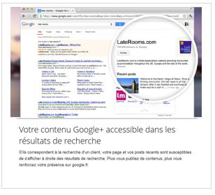 Votre contenu google plus accessible dans les résultats de recherche de Google