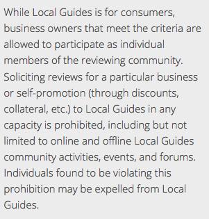 Infos CGU Google Local Guide