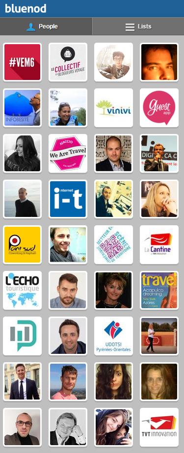 "Les ""people"" influents #Vem6 via Bluenod"