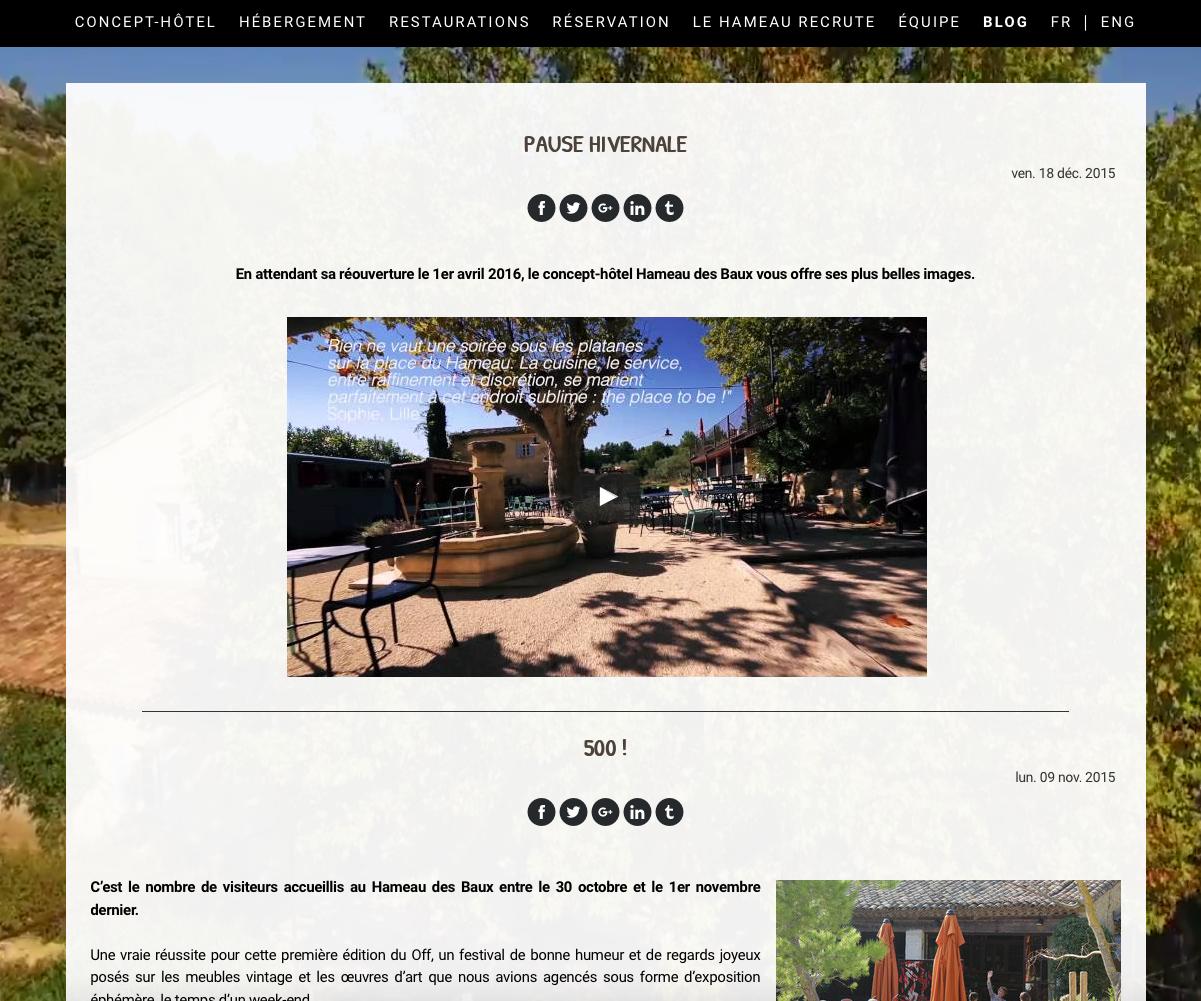 blog site hébergement