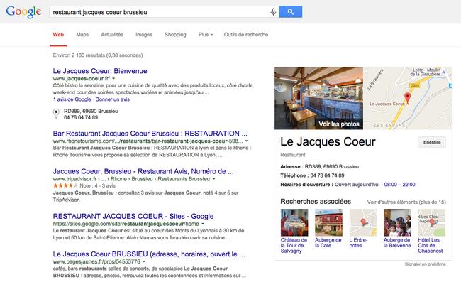 recherche Google local